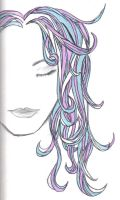 gel pen hair by blue-lemonade2385