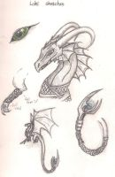 Loki dragon sketches by ComplexMagic