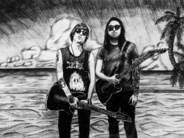 Alan Ashby and Phil Manansala-On The Beach by I-Draw-Bands
