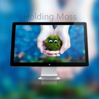 Holding Moss Wallpaper (4k) by rudolfzz111