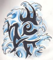 Water Element Tribal by GreenHeethar