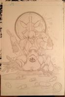 Deadpool/Stormtrooper tattoo sketch (1 of 2) by animaddict