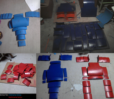 Tobirama and Hashirama Armor Progress by LadyOfTheCloth