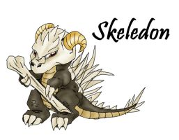Fakemon contest entry-skeledon by Chibi-chan88