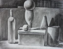 Charcoal still-life 1 by bangalore-monkey