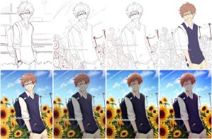 SbS: sunflower boy by baenana
