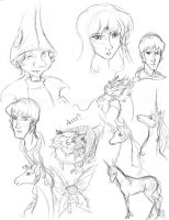 Last Unicorn sketches by Oboe