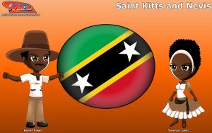 Chibi Saint Kitts and Nevis  - Animondos - by Dougieus