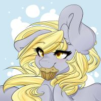 Derpy and her muffin by blowfishartist