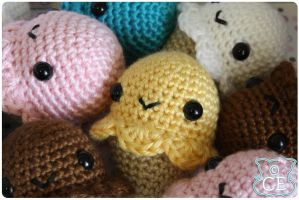 EDIT: Ice Cream Cone Crochet Pattern PDF by moofestgirl