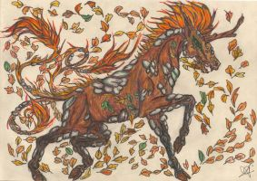 Autumn Kirin in Color by jollyroger11