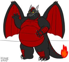 QwikOne - The Black and Red Dragon by DragonDoctor