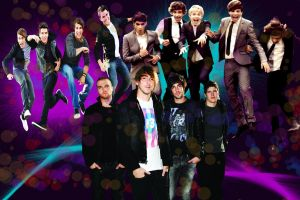 Big Time Rush, All Time Low, One Direction by EmoRock114