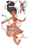 Fan Art - Moana by MeoMai