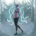 Snowstorm Ahri - Day 7 by Miss-Cats