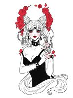 Sailor Moon: Black Lady - Tattoo Design by Dar-chan