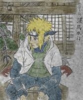 Hero-of-the-Leaf-Namikaze-Minato (Colored) by PeachBerryDivision