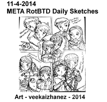 META RotBTD 2014 Daily Sketch 4-11 by veekaizhanez