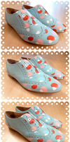 Baby Blue Mushroom Brogues - Work In Progress by ponychops