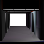 Hall with a large window png by mysticmorning