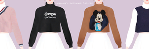 Turtleneck T-shirt Download by Mari-Ichi