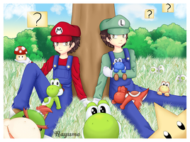 -- Mario and Luigi anime style -- by Nay-Hime