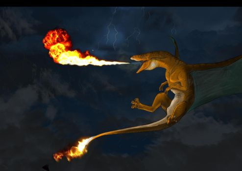 Charizard (Better fire?... dunno) by JoshuaDunlop