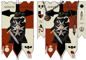 Black Templars Banner by 40-Kun