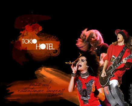 Tokio Hotel Wallpaper by Nuptaa