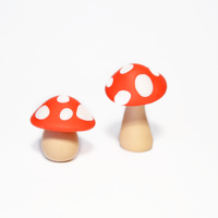 Miniature Polymer Clay Mushroom Ornaments by Linnypig