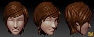 Female Head Practice by geneous
