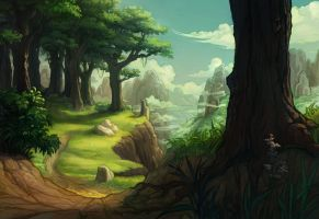 winding path by DawnElaineDarkwood