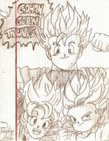 Goahn, Goten y Trunks by elchinoga