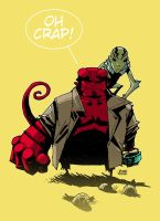 Abe and Hellboy by scruffyronin