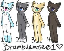Anthro Adoptables~ OPEN! 3 left... by we-for-all-eternity