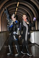 FemThane and FemGarrus Cosplay 1 by LadySiha