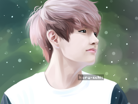 Taehyung again by haru-cchii