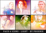 The Avengers Six Icons Pack by MaryInma