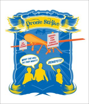Drone Strike concept by 3RDigraphics