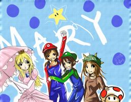 Mary's Mario Birthday by silent-requiem