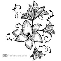Flower Vector Graphic by 123freevectors