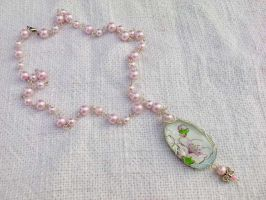 Spring necklace with glass by Mirtus63