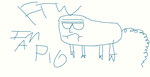 Horrible drawing of a pig. Regular show style by flipside123