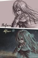Lonely vampire before and after by Hamzilla15