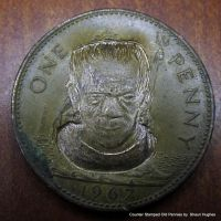 Frankenstein's Monster Penny Counter Stamped Coin by shaun750