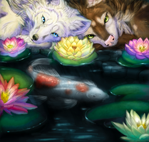 Collab - Water Lilies by Naryu