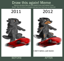 improvement meme--skateboarding Laddie by Colliequest