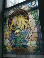 Zelda Wind Waker Stained Glass by seraphimpunk