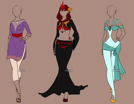 Fashion Adoptables Auction 6 - CLOSED by Karijn-s-Basement