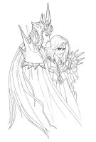 Morgoth and Sauron by wristwatchwitch